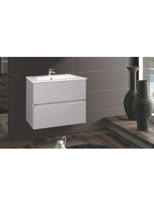 Fürdőszobabútor, Wellis, Elois Grey 60, 2 fiókos, komplett mosdós szekrény