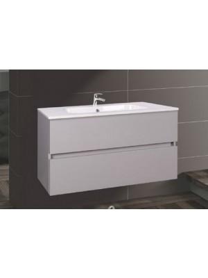Fürdőszobabútor, Wellis, Elois Grey 80, 2 fiókos, mosdós szekrény