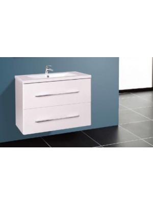 Fürdőszobabútor, Wellis, Nina 60, 2 fiókos, komplett mosdós szekrény