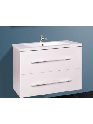 Fürdőszobabútor, Wellis, Nina 80, 2 fiókos, komplett mosdós szekrény