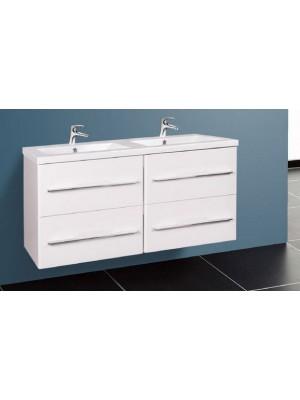 Fürdőszobabútor, Wellis, Nina 120, 4 fiókos, komplett mosdós szekrény