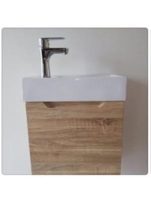 HB Fürdőszobabútor, Virginia függesztett mosdós szekrény, 50x40x22 cm