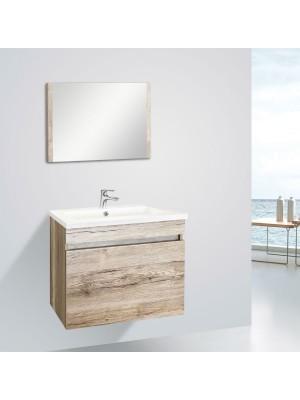 Fürdőszobabútor, Wellis, Blondie 60, komplett mosdós szekrény