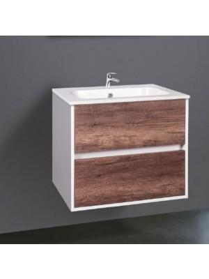 Fürdőszobabútor, Wellis, Ginger 60, 2 fiókos, komplett mosdós szekrény