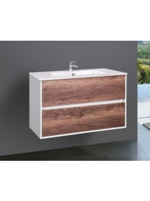 Fürdőszobabútor, Wellis, Ginger 80, 2 fiókos, komplett mosdós szekrény