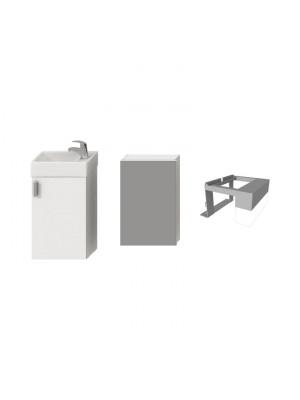 Fürdőszobabútor, Jika Petit alsószekrény 1+3 szett, fehér, H4535121753001 I.o.