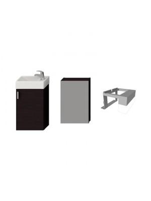 Fürdőszobabútor, Jika Petit alsószekrény 1+3 szett, sötét tölgy, H4535121753021 I.o.