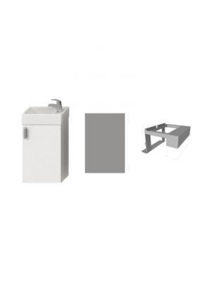 Fürdőszobabútor, Jika Petit alsószekrény 1+3 szett, fehér, H4535141753001 I.o.