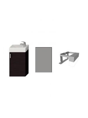 Fürdőszobabútor, Jika Petit alsószekrény 1+3 szett, sötét tölgy, H4535141753021 I.o.