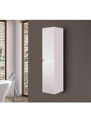 Fürdőszobabútor, Wellis, Elois White magas fali szekrény 35*30*140 cm I.o.