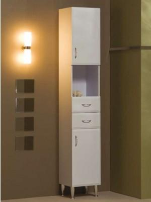 Fürdőszobabútor, tBoss, Classic Bianka M33Z SZT, zárt, szennyestartós I.o.
