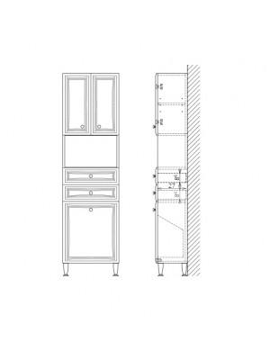Fürdőszobabútor, tBoss, Plusz M53NY SZT, nyitott, szennyestartós I.o.