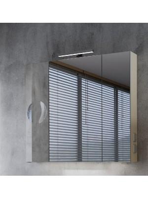Fürdőszobabútor, tBoss, Mirror Box Recta, 90 tükrös felsőszekrény