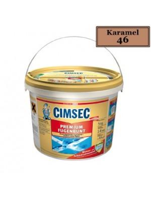 Cimsec, Prémium fugázó, Karamell (46) 2 kg vödrös