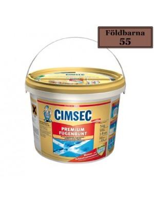 Cimsec, Prémium fugázó, földbarna (55) 5 kg vödrös