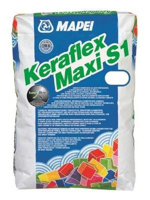 Mapei, Keraflex Maxi S1 25 kg szürke flexibilis csemperagasztó I.o. C2TE S1