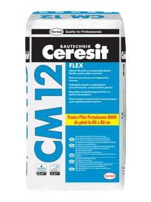 Ceresit (Henkel), Flexibilis folyékonyágyas csemperagasztó nagyméretű lapokhoz (max. 80X80 cm), CM 12  25 kg