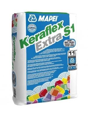 Mapei, Keraflex Extra S1 25 kg szürke flexibilis csemperagasztó I.o.