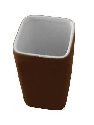 Quadrat 2000, Kerámia, RUBBER CHOCOLATE Family, fogmosó pohár, 8008521001621