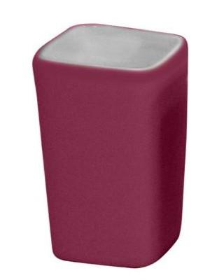 Quadrat 2000, Kerámia, RUBBER MAGENTA Family, fogmosó pohár, 8008521001645