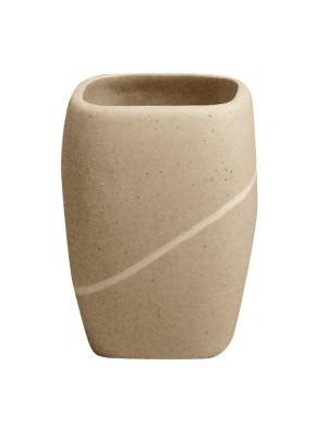Quadrat 2000, Kerámia, STONE BEIGE, fogmosó pohár, 8008521001720