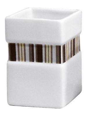 Quadrat 2000, Kerámia, LINE CHOCOLATE Family, fogmosó pohár, 8008520501115