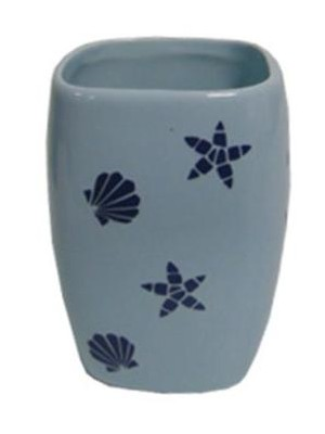 Quadrat 2000, Kerámia, ART BLUE Family, fogmosó pohár, 8008520001554
