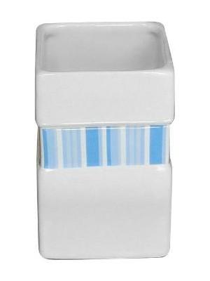 Quadrat 2000, Kerámia, LINE BLUE Family, fogmosó pohár, 8008520001493
