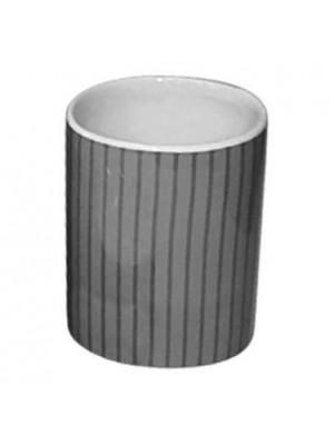 Quadrat 2000, Kerámia, LINE BLACK Family, fogmosó pohár, 8008520001851