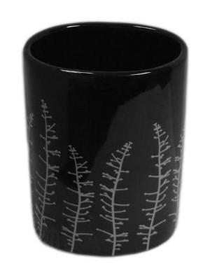Quadrat 2000, Kerámia, CLASSIC BLACK Family, fogmosó pohár, 8008520001738