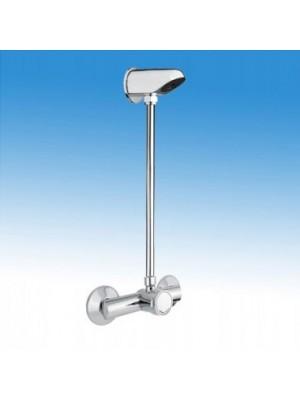 B&K, Falon kívül csövezett zuhanyrendszer, fejbenkeverős időzített, nyomógombbal, fix zuhanyfejjel, BK01549000000001