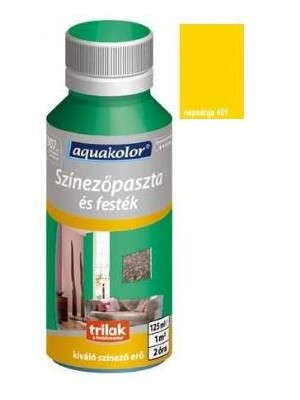 Aquakolor, szín.paszta 401 napsárga 125ml