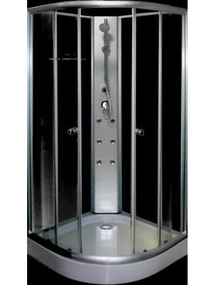 Aqualife, Hidromasszázs zuhanykabin, Opal 508A fekete/fehér 90x90x208,5 cm