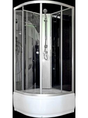 Aqualife, Opal 509 mély fekete/fehér zuhanykabin, 90x90x212 cm