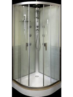 Aqualife, Zafir 8607, fehér zuhanykabin, 90x90x210 cm