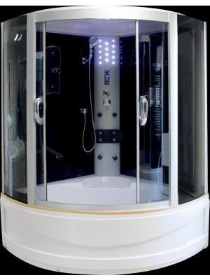 Aqualife, Hidromasszázs zuhanykabin, Brill 8882 fekete 136x136x215