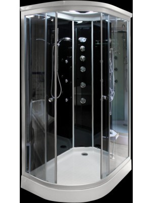 Aqualife, Hidromasszázs zuhanykabin, Brill 8822 bal/jobb fekete zuhanykabin 85x120 cm