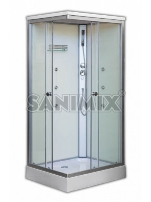 Sanimix, hidromasszázs zuhanykabin, 100*80*215 cm, 22.8708