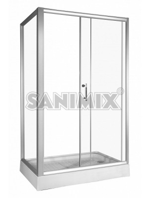 Sanimix, hidromasszázs zuhanykabin,szögletes, 120*80*200 cm, 22.8706