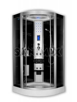 Sanimix, hidromasszázs zuhanykabin,negyedköríves,100*100*222 cm, 22.8318