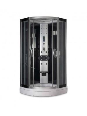 Aqualife, Hidromasszázs zuhanykabin, Strong S81 fekete hátfallal, 90x90x217 cm