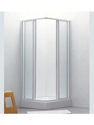 HF, zuhanykabin HX8207 80*80 cm fehér, szögl. natúr ZUHANYTÁLCA NÉLKÜL