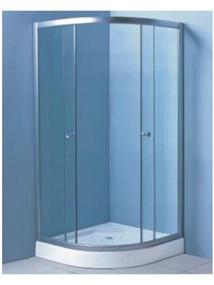 HTB, zuhanykabin, íves, 80x80, natur üveg, króm keret, 5 mm (8130), tálcával és szifonnal OOP
