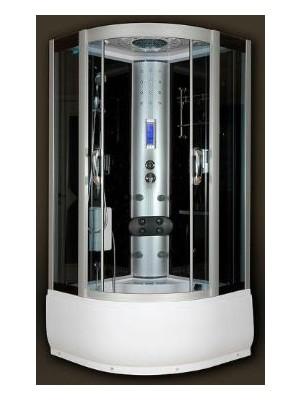 Sanimix, Hidrokabin mély tálcával, fekete hátfallal 100x100x215 cm, 22.56.5.0