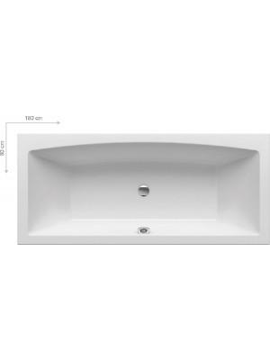 Ravak, Formy 02, szögletes akrilkád, 180*80 cm