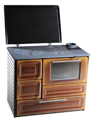 Hosseven, 4010 tűzhely kályha, lemezburkolat, barna, 5,8 KW