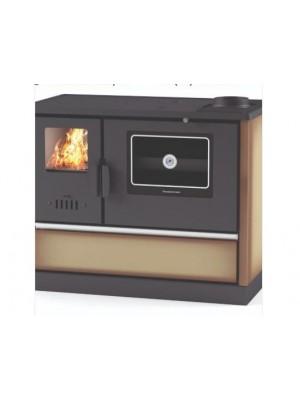 Hosseven, 4020 Öntöttvas tűzhely, üveg sütőajtóval, barna, 7 kW