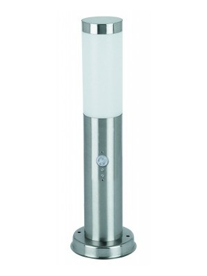 Rábalux, Inox torch, kültéri talpas, mozgásérzékelővel, H45cm, 8267