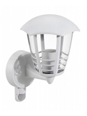 Rábalux, Marseille, falikar lámpa mozgásérzékelővel, felfelé, hatszögletű lámpafej-alak 3 díszítő csíkkal, 8647