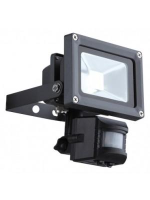 Globo, Projecteur, Reflektor IP44, Sensor:incl., BxH:115x150, AL:170, inkl. 1xLED 10W 32V, 650lm, 6500K, 34114S
